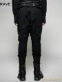 Black Gothic Heavy Punk Harem Pants for Men