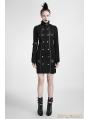 Black Gothic Handsome Uniform Dress