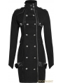 Black Gothic Handsome Uniform Dress