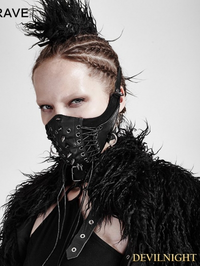 Black Gothic Punk Mask for Women