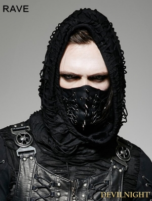 Black Gothic Punk Mask for Men