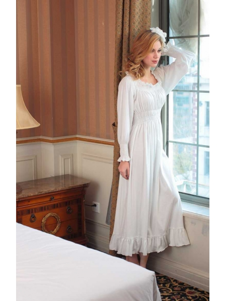 ccbaaccce Long Sleeves White Medieval Underwear Chemise Dress - Devilnight.co.uk