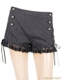 Black Gothic Sexy Shorts for Women