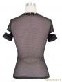 Alternative Black Gothic Punk Short Sleeves Shirt for Women
