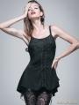 Romantic Black Gothic Floral Top for Women