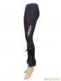 Black Unique Design Gothic Legging for Women