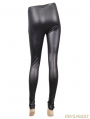 Black Gothic Punk Spider Web Legging for Women