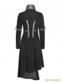 Black Gothic Punk Asymmetric Hem Jacket for Women