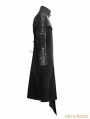 Black Gothic Punk Asymmetric Hem Jacket for Men