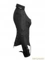 Black Gothic Military Uniform Shirts for Women