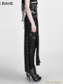 Black Gothic Punk Split Skirt for Women