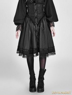 Black Gothic Two Wear Pettiskirt Cloak