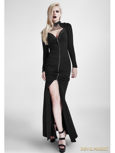 Black Gothic Heavy Punk Long Dress