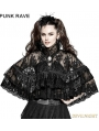 Black Gothic Lolita Lace Double Layer Cloak