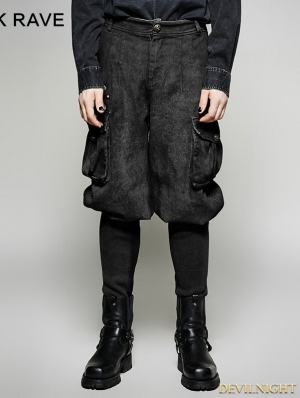 Black Gothic Steampunk Looser Trouser for Women
