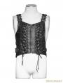 Gothic Sliver Army Uniform Interlocks Stringing Vest for Men
