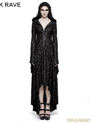 Black Gothic Vampire Decadent Hooded Dress