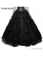 Black Gothic Long Mesh Skirt