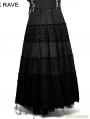 Black Sector Big Swing Gothic Long Skirt