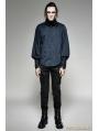 SALE!Blue Steampunk Striped Shirt for Men