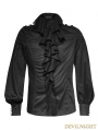 SALE!Black Gothic Palace Style Ruffles Men's Shirt