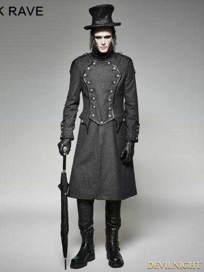 SALE!Gothic Military Uniform Long Coat for Men