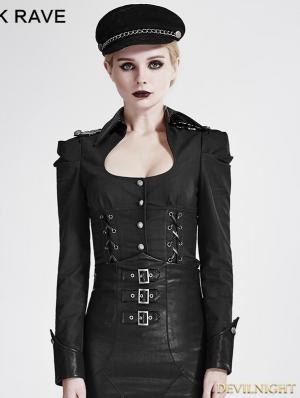 SALE!Black Gothic Military Uniform Shirts for Women