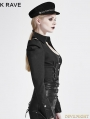 SALE!Black Gothic Military Uniform Shirts for Women