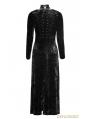Black Gothic Retro-minimalist Band Imitation Gold Velvet Dress Coat