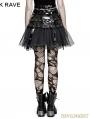 Black Gothic Punk Japanese Style Short Skirt