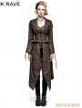 Brown Steampunk Removable Jacket for Women