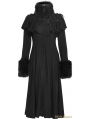 Black Long Shawl Decorated Gothic Lolita Coats
