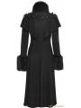 Black Long Shawl Decorated Gothic Lolita Coats