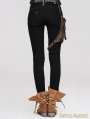 Devil Fashion Steampunk Pants with Coffee Pocket for Women