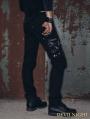 Black Zipper Chain Gothic Punk Pants for Men
