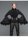 Black Gothic Palace Style Blouse for Women