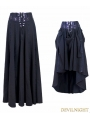 Black High Waist Gothic Skirt
