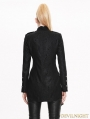 Black Double-Breasted Gothic Military Style Short Jacket for Women