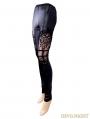 Black Gothic Lace Legging for Women