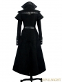 Black Vintage Gothic Long Cape Design Coat for Women