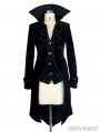 Black Gothic Palace Style Long Coat for Women