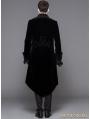 Black Gothic Palace Style Long Coat for Men