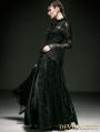 Romantic Black Gothic Lace Blouse for Women