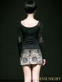 Alternative Black Gothic Punk Shirt for Women