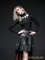 Black Buckle Belt Gothic Punk Shirt for Women