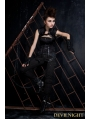 Black Gothic Punk Sleeveless Top for Women