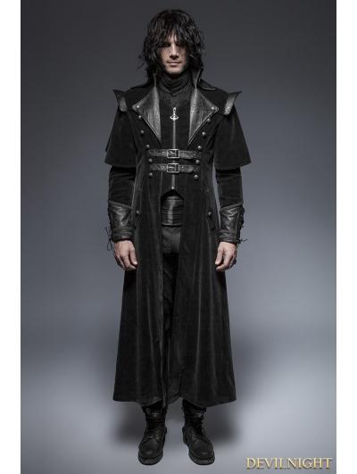 SALE!Black Gothic Long Cloak Coat for Men