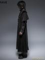Black Gothic Long Cloak Coat for Men