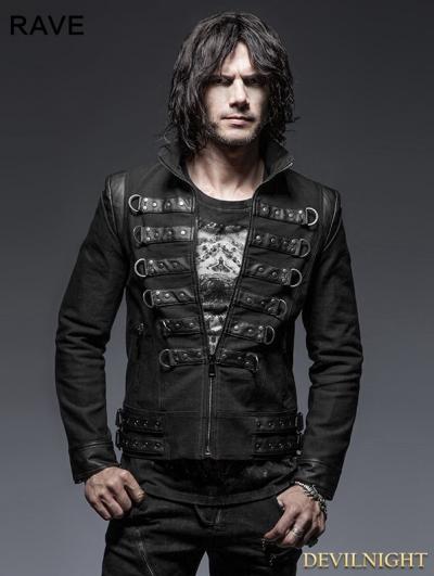 SALE!Black Gothic Punk Handsome Soldier Jacket for Men