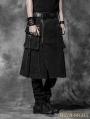 Black Gothic Punk Skirt for Men